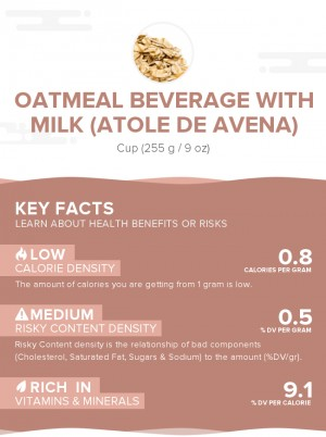 Oatmeal beverage with milk (Atole de avena)