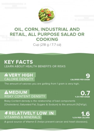 Oil, corn, industrial and retail, all purpose salad or cooking