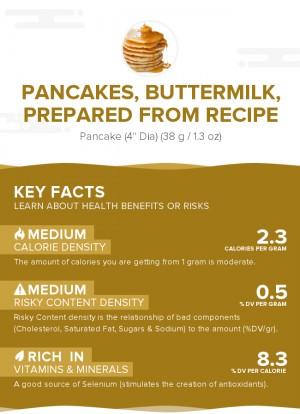 Pancakes, buttermilk, prepared from recipe
