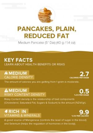 Pancakes, plain, reduced fat