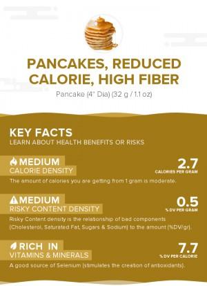Pancakes, reduced calorie, high fiber