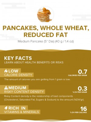 Pancakes, whole wheat, reduced fat