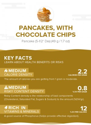 Pancakes, with chocolate chips