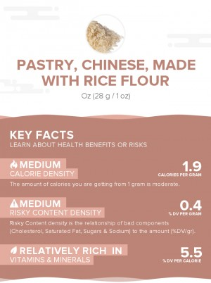 Pastry, Chinese, made with rice flour