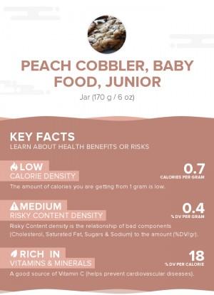 Peach cobbler, baby food, junior