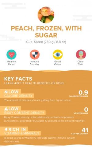 Peach, frozen, with sugar