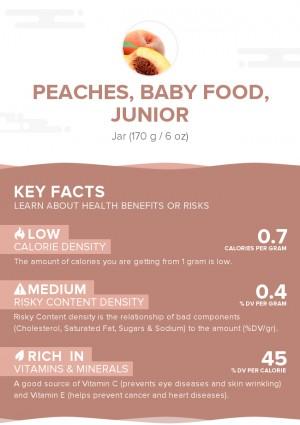 Peaches, baby food, junior