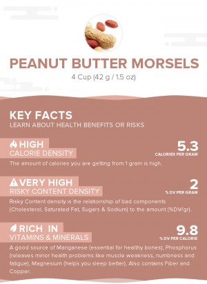 Peanut butter morsels