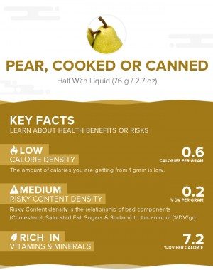 Pear, cooked or canned