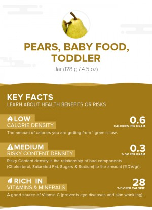 Pears, baby food, toddler
