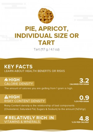 Pie, apricot, individual size or tart