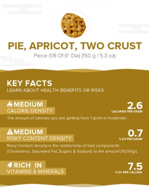 Pie, apricot, two crust
