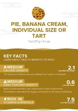 Pie, banana cream, individual size or tart