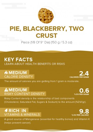 Pie, blackberry, two crust