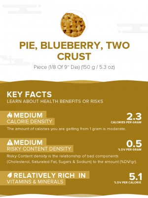 Pie, blueberry, two crust