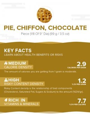 Pie, chiffon, chocolate