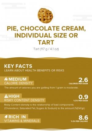 Pie, chocolate cream, individual size or tart
