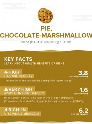 Pie, chocolate-marshmallow
