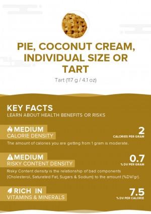 Pie, coconut cream, individual size or tart