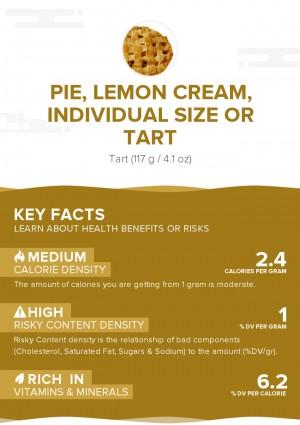 Pie, lemon cream, individual size or tart