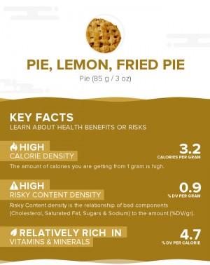Pie, lemon, fried pie