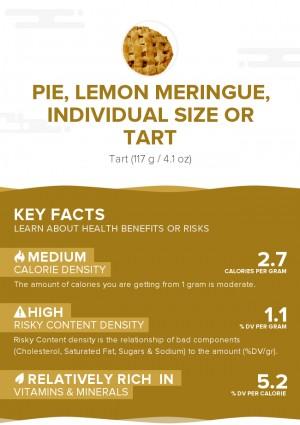 Pie, lemon meringue, individual size or tart