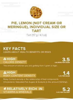 Pie, lemon (not cream or meringue), individual size or tart