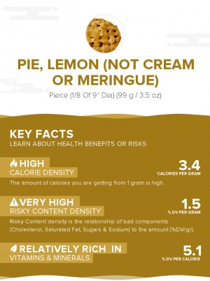 Pie, lemon (not cream or meringue)