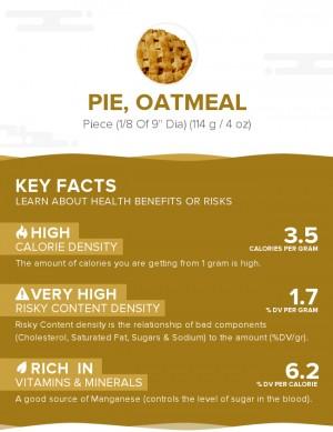 Pie, oatmeal