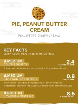 Pie, peanut butter cream