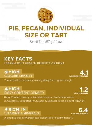 Pie, pecan, individual size or tart