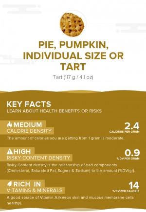 Pie, pumpkin, individual size or tart