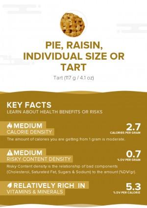 Pie, raisin, individual size or tart