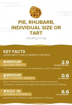 Pie, rhubarb, individual size or tart