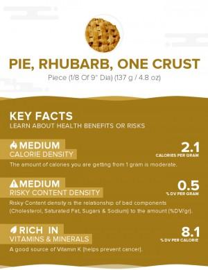 Pie, rhubarb, one crust