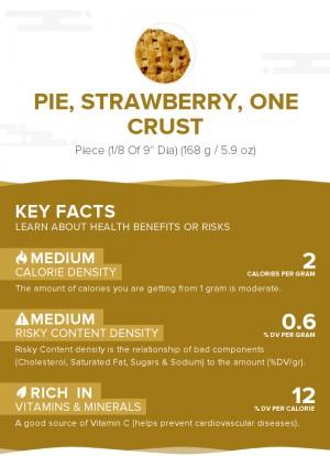 Pie, strawberry, one crust