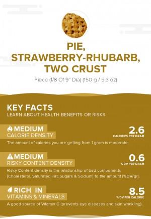 Pie, strawberry-rhubarb, two crust