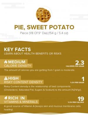Pie, sweet potato