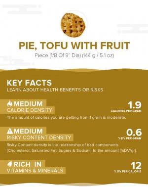 Pie, tofu with fruit