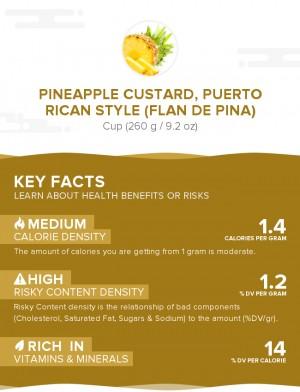Pineapple custard, Puerto Rican style (Flan de pina)