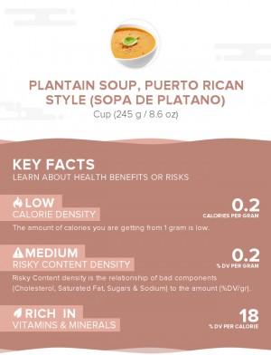 Plantain soup, Puerto Rican style (Sopa de platano)