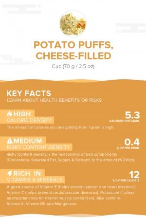 Potato puffs, cheese-filled