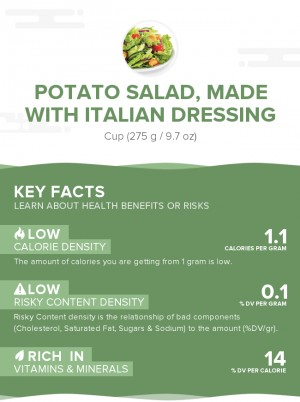 Potato salad, made with Italian dressing