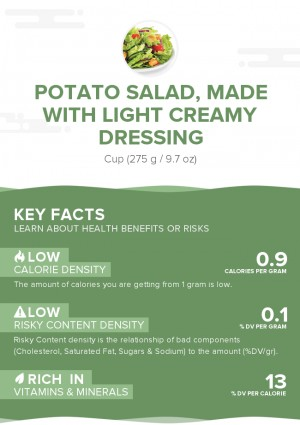 Potato salad, made with light creamy dressing