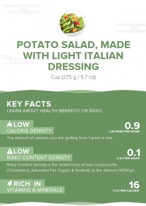 Potato salad, made with light Italian dressing