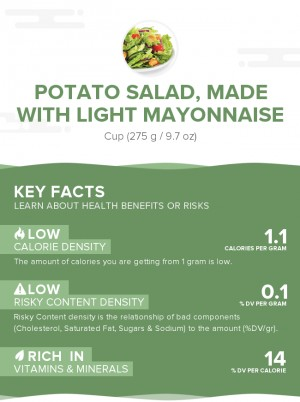 Potato salad, made with light mayonnaise