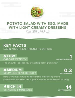 Potato salad with egg, made with light creamy dressing