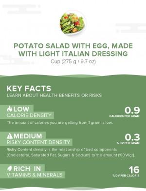 Potato salad with egg, made with light Italian dressing