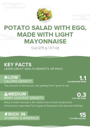 Potato salad with egg, made with light mayonnaise