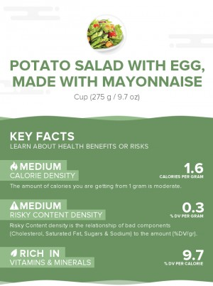 Potato salad with egg, made with mayonnaise